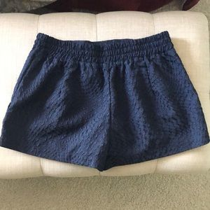 Navy blue embroidered shorts size M
